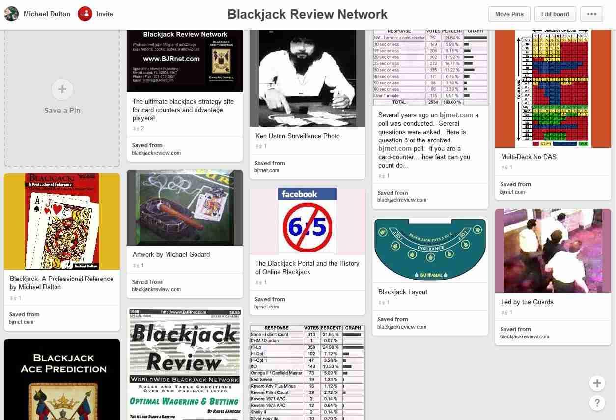 Blackjack Review Network Pinterest Page